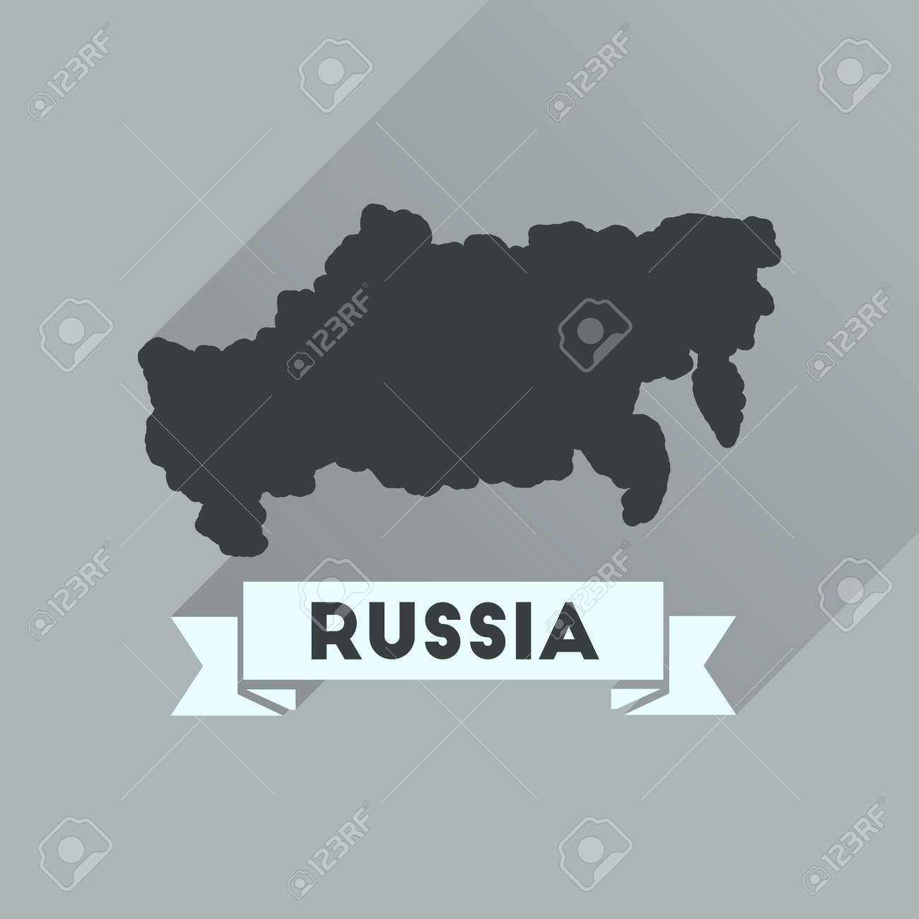 Flat icon with long shadow map of Russia Flat Russia Map on flat united states map, flat eurasia map, flat great britain map, flat country map, flat europe map, flat us map, flat africa map, flat world maps,