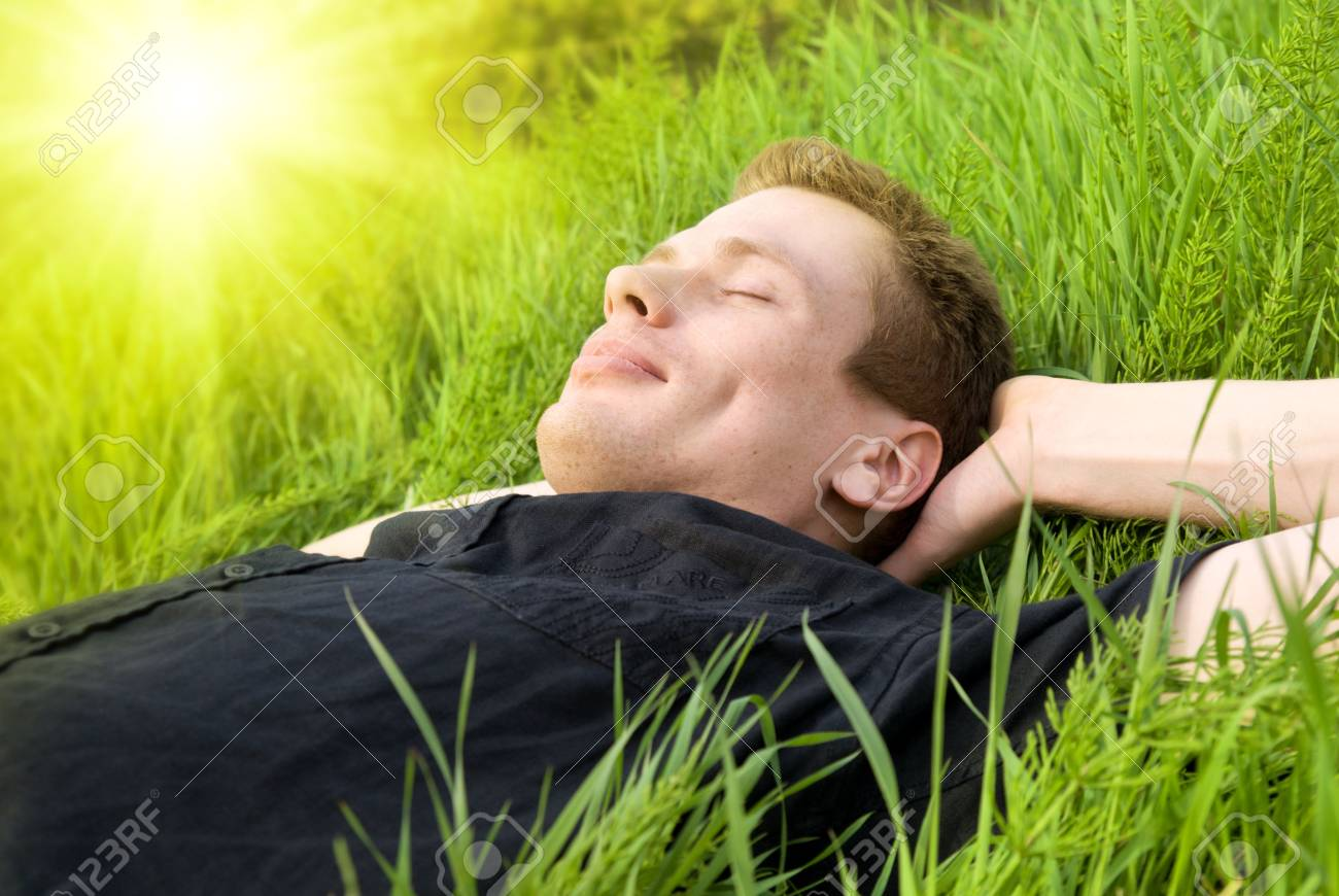 young man relax under summer sun Stock Photo - 3704160