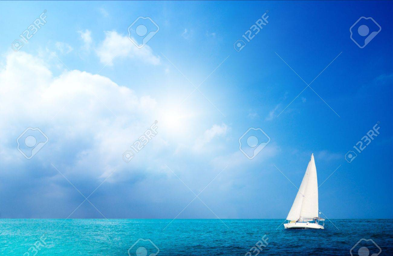 sailboat sky and ocean - 4428226