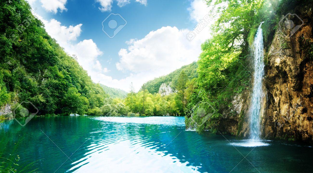 waterfall in deep forest of Croatia Stock Photo - 8730943