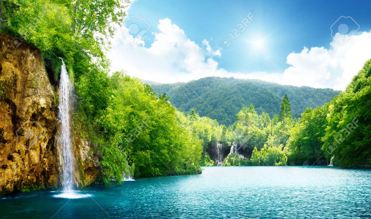 waterfall in deep forest of Croatia - 8731021