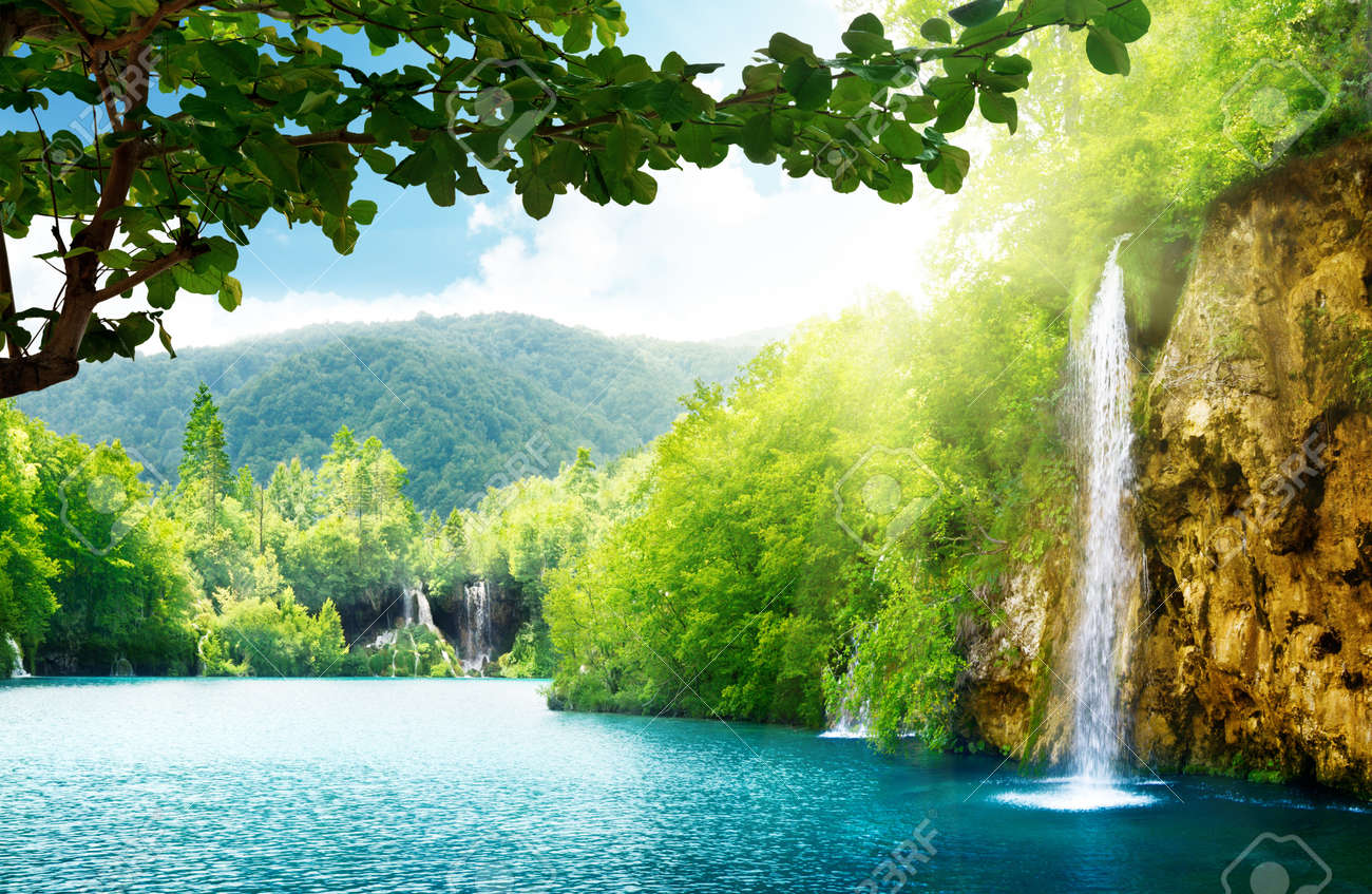 waterfall in deep forest of Croatia Stock Photo - 10835824