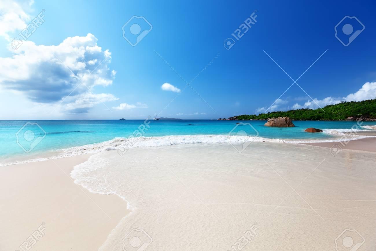 Anse Lazio beach at Praslin island, Seychelles Stock Photo - 17874448