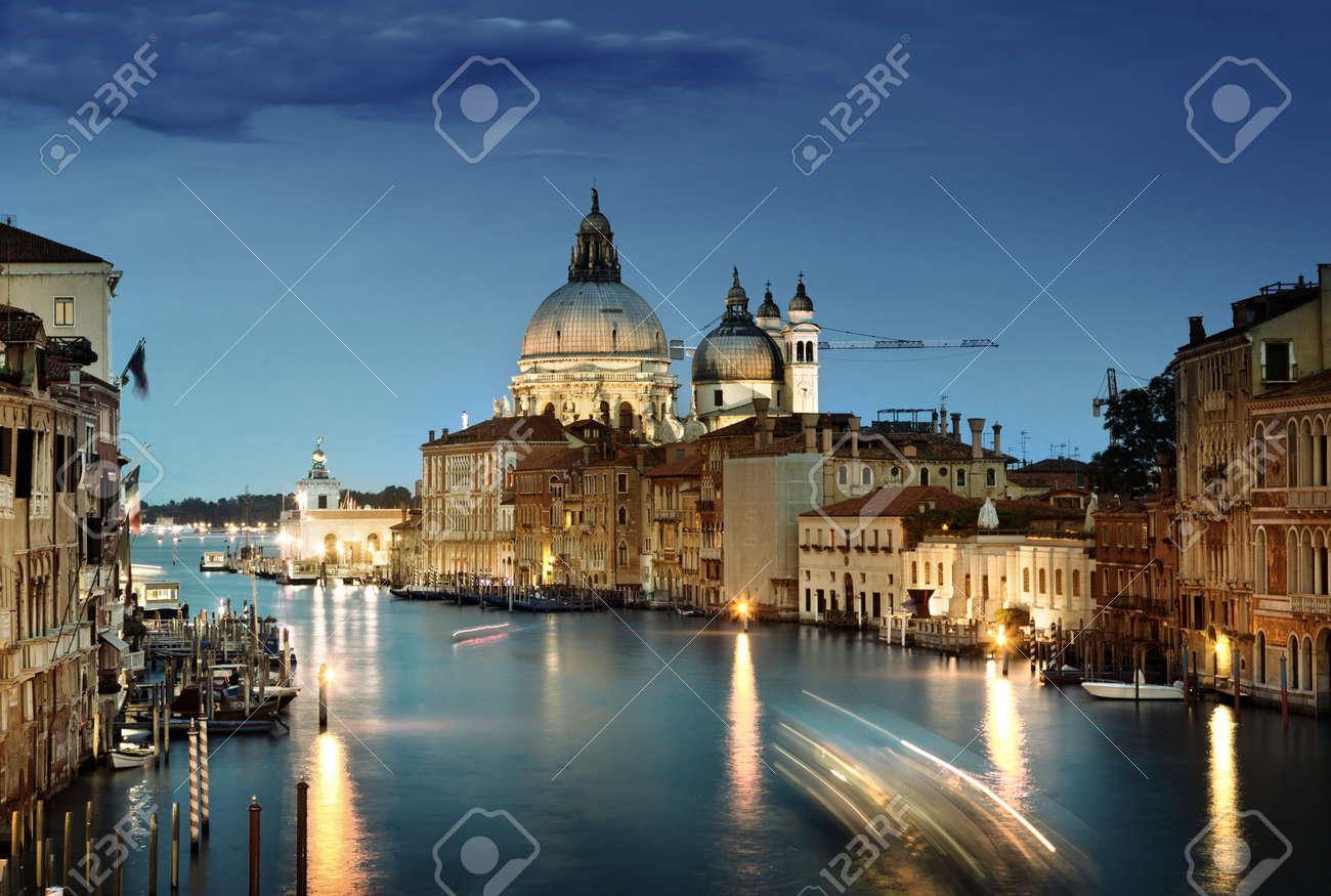 Grand Canal and Basilica Santa Maria della Salute, Venice, Italy Stock Photo - 19713444