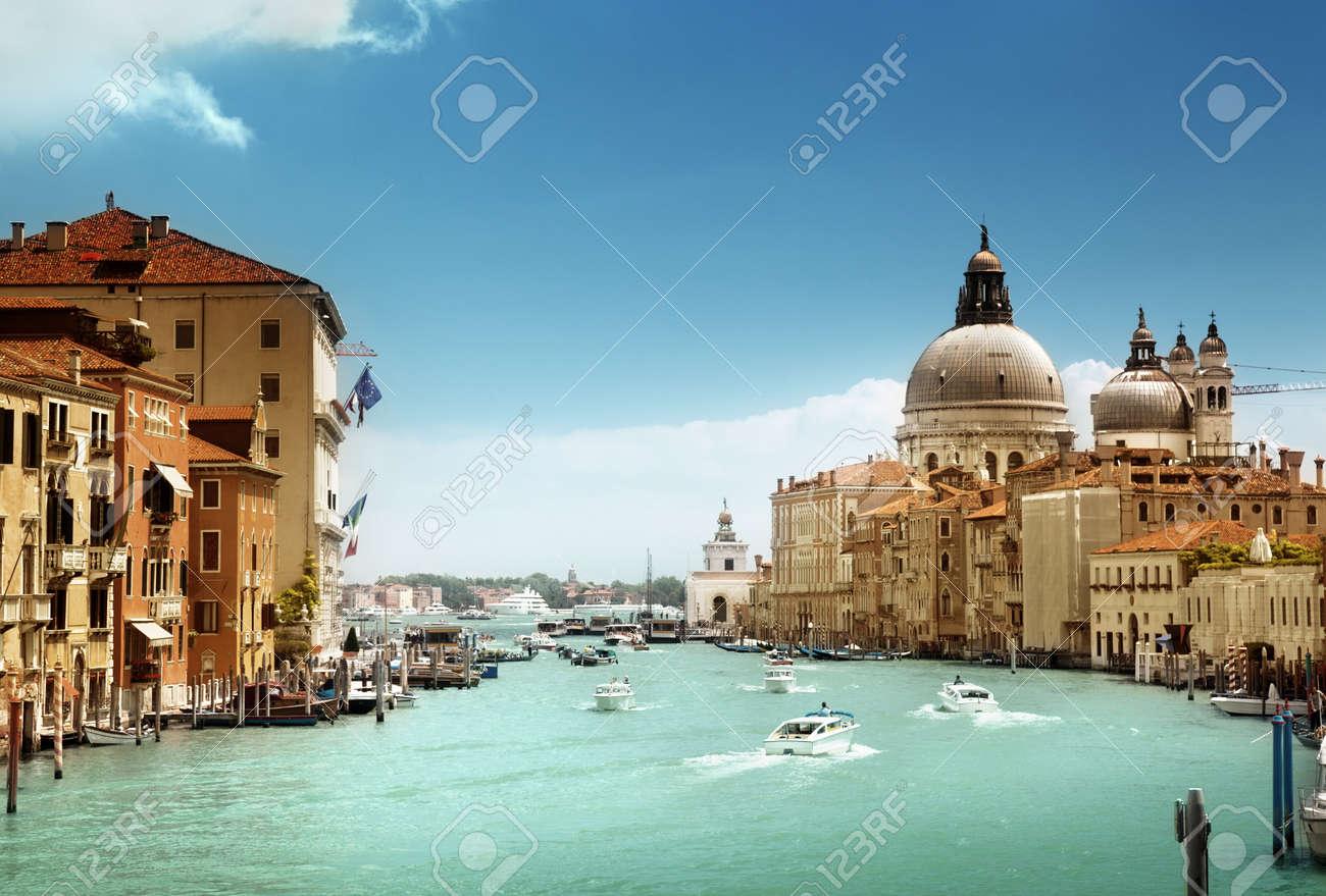 Grand Canal and Basilica Santa Maria della Salute, Venice, Italy Stock Photo - 20196167