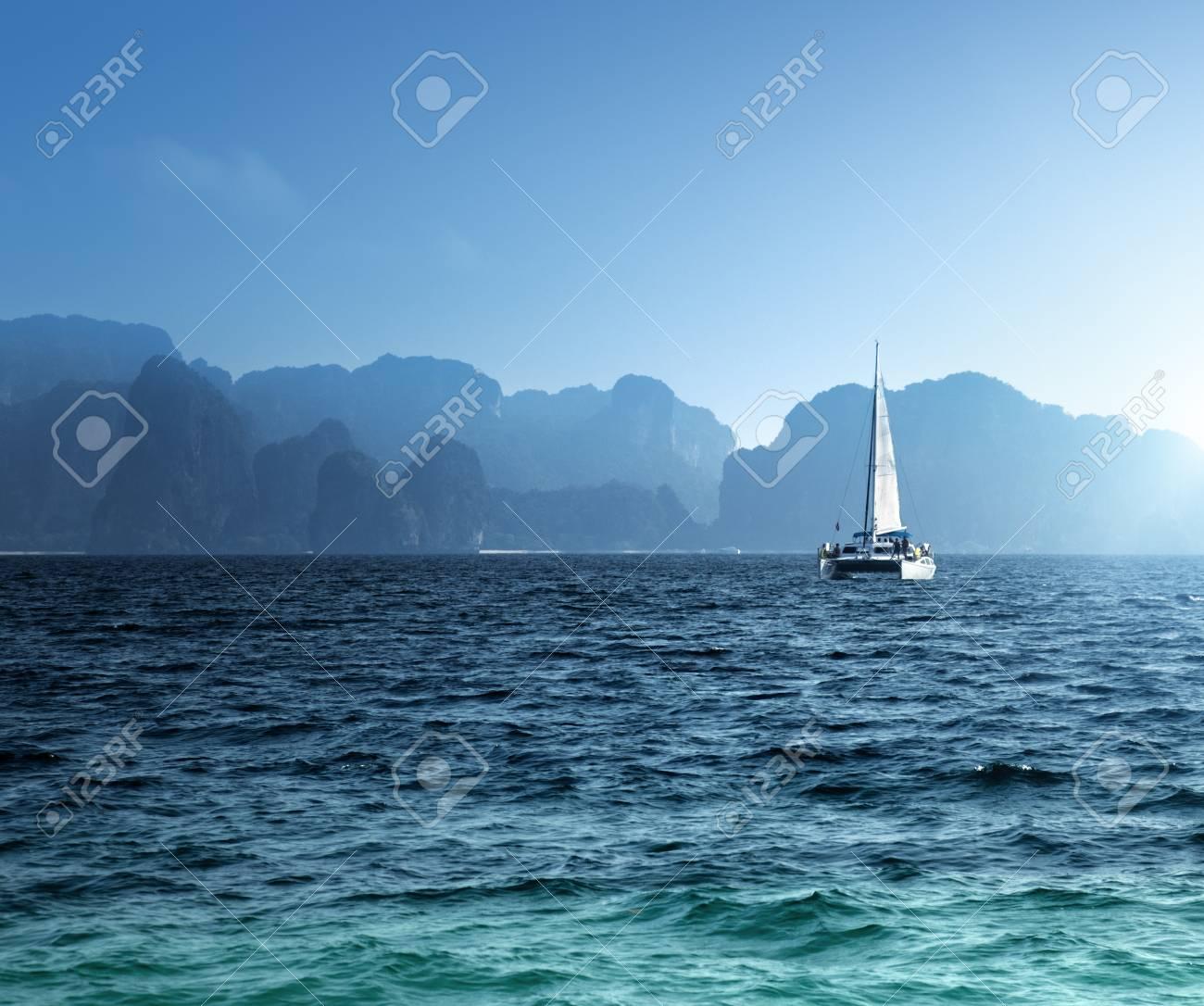 yacht and ocean Krabi province, Thailand Stock Photo - 23486992
