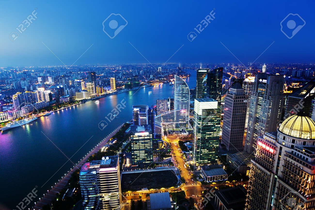 Shanghai night view, China - 48252659