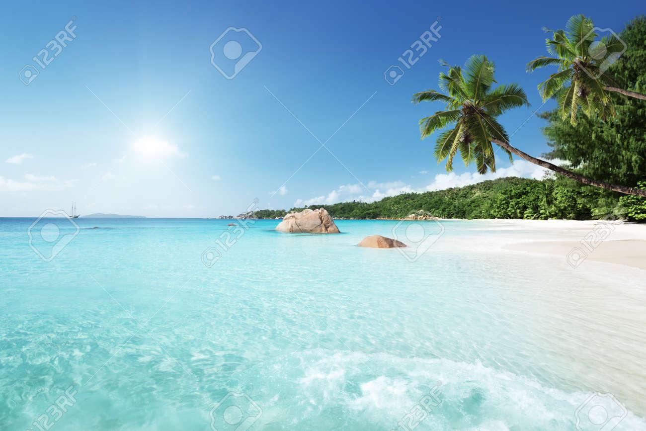 Anse Lazio beach at Praslin island, Seychelles - 48672462