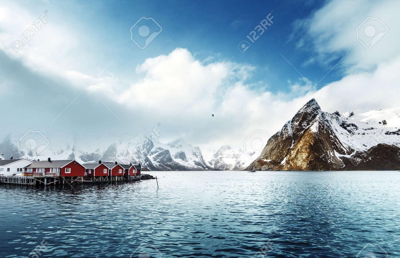 spring sunset - Reine, Lofoten islands, Norway - 51360237