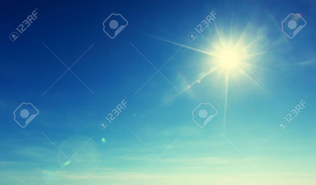 blue sky and sun - 67823739