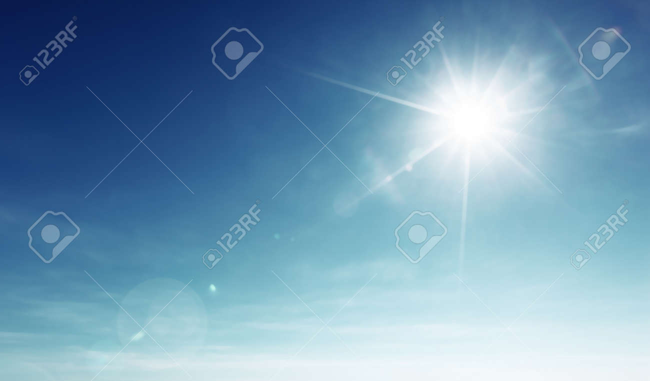 blue sky and sun - 69758705