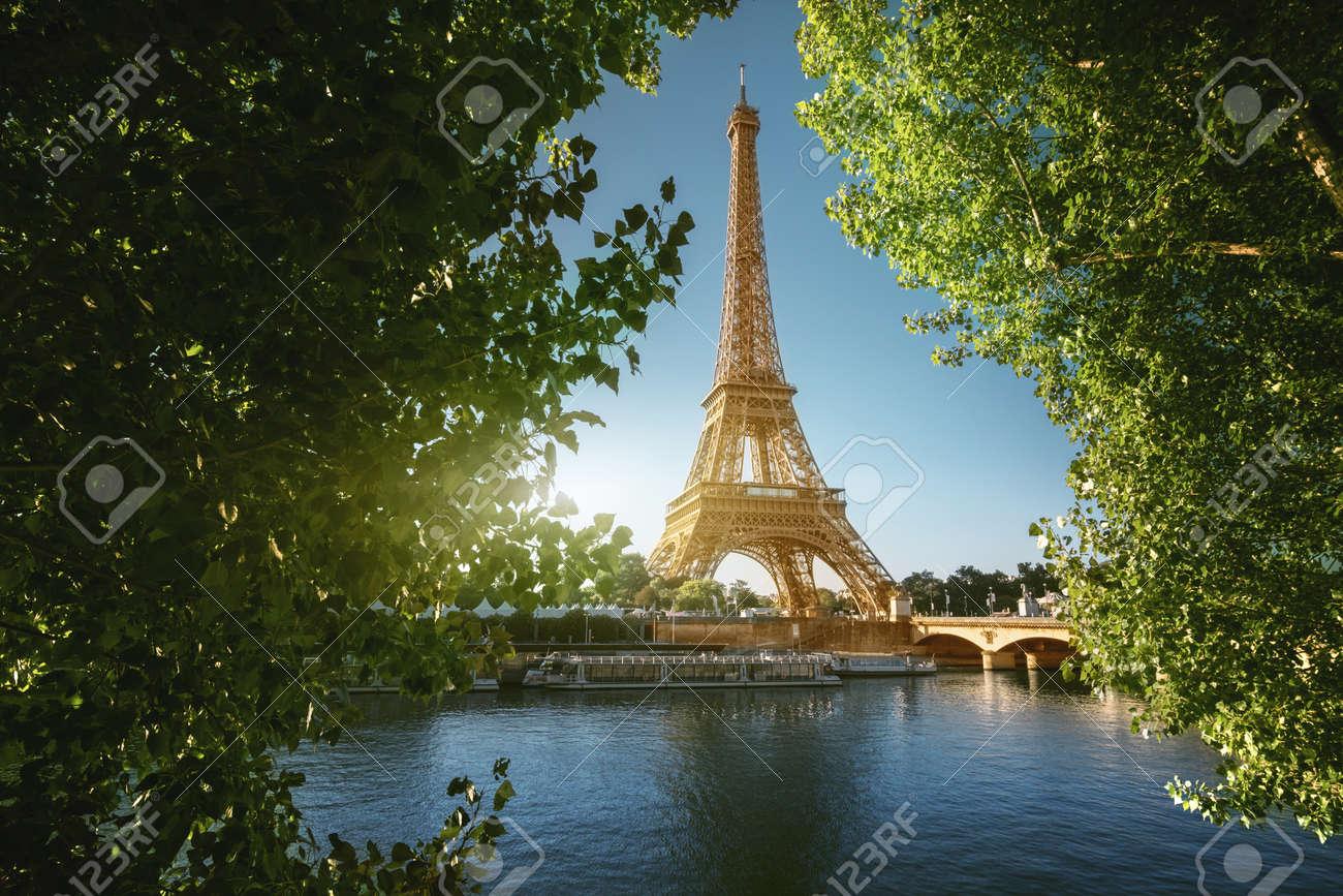 Seine in Paris with Eiffel tower - 124897577
