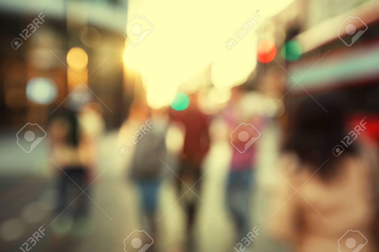 people in bokeh, street of London - 150379194