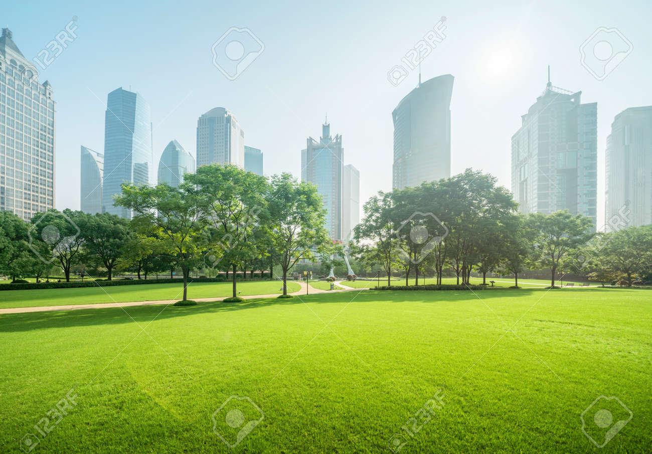 park in lujiazui financial center, Shanghai, China - 151602455