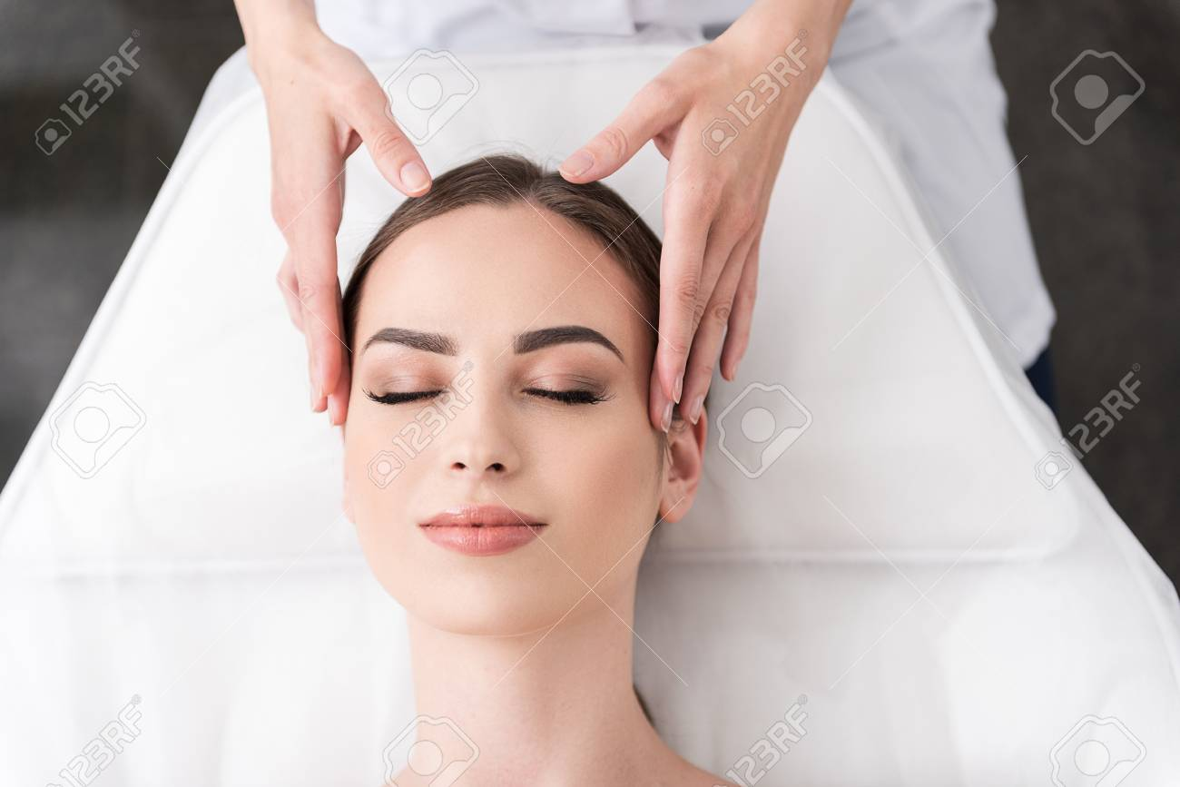 Relaxing Facial Massage At Spa Salon Stock Photo Picture And Royalty Free Image Image 81158981
