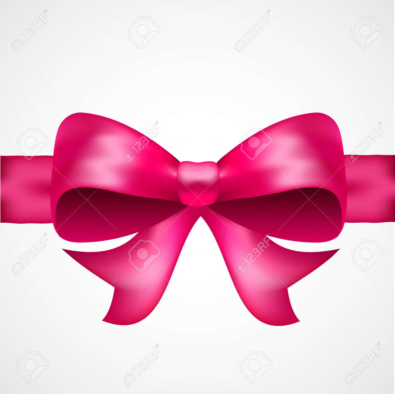 Pink vector satin bow for presents, cards, gift cards, birthday, holidays and other - 158399026
