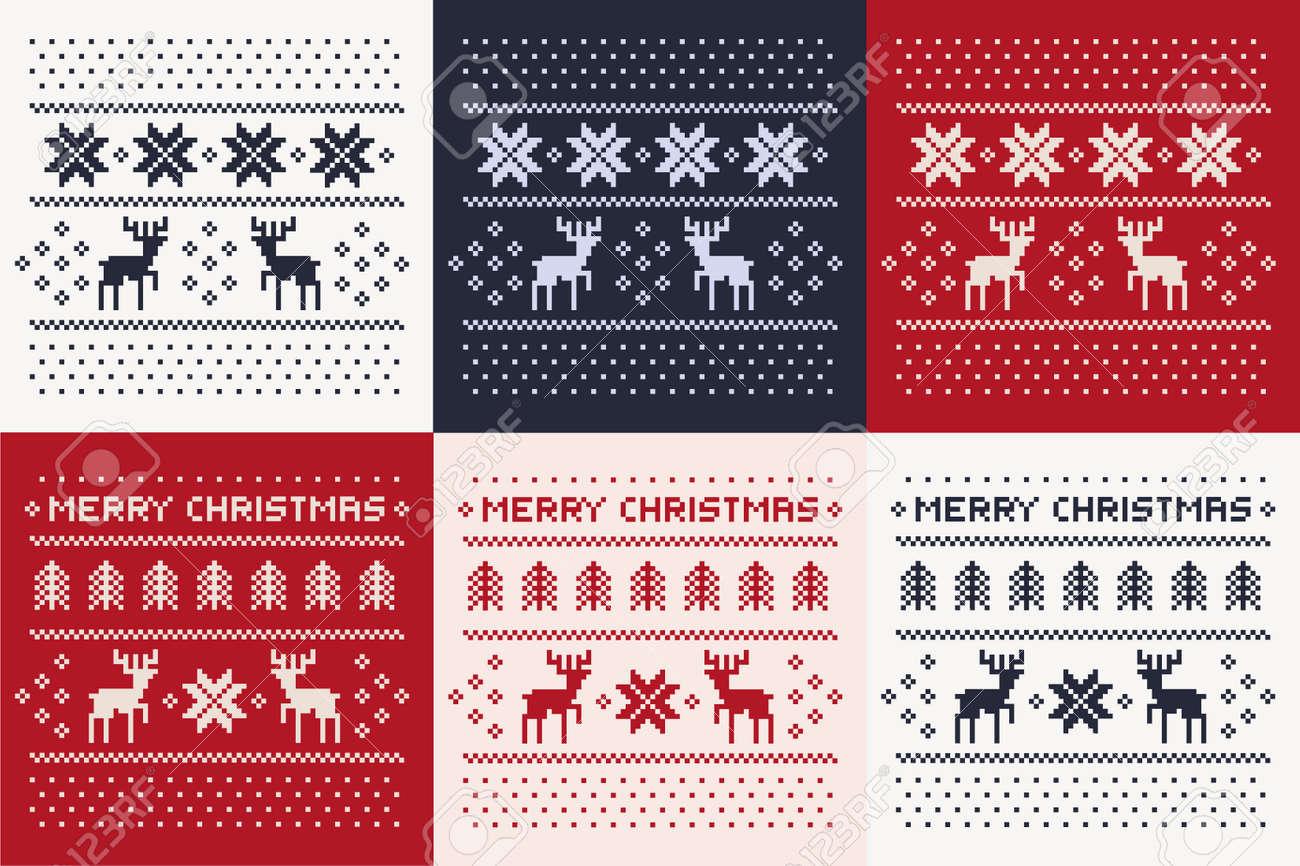 Patrón De Invierno De Navidad De Impresión Configurado Para Jersey O ...