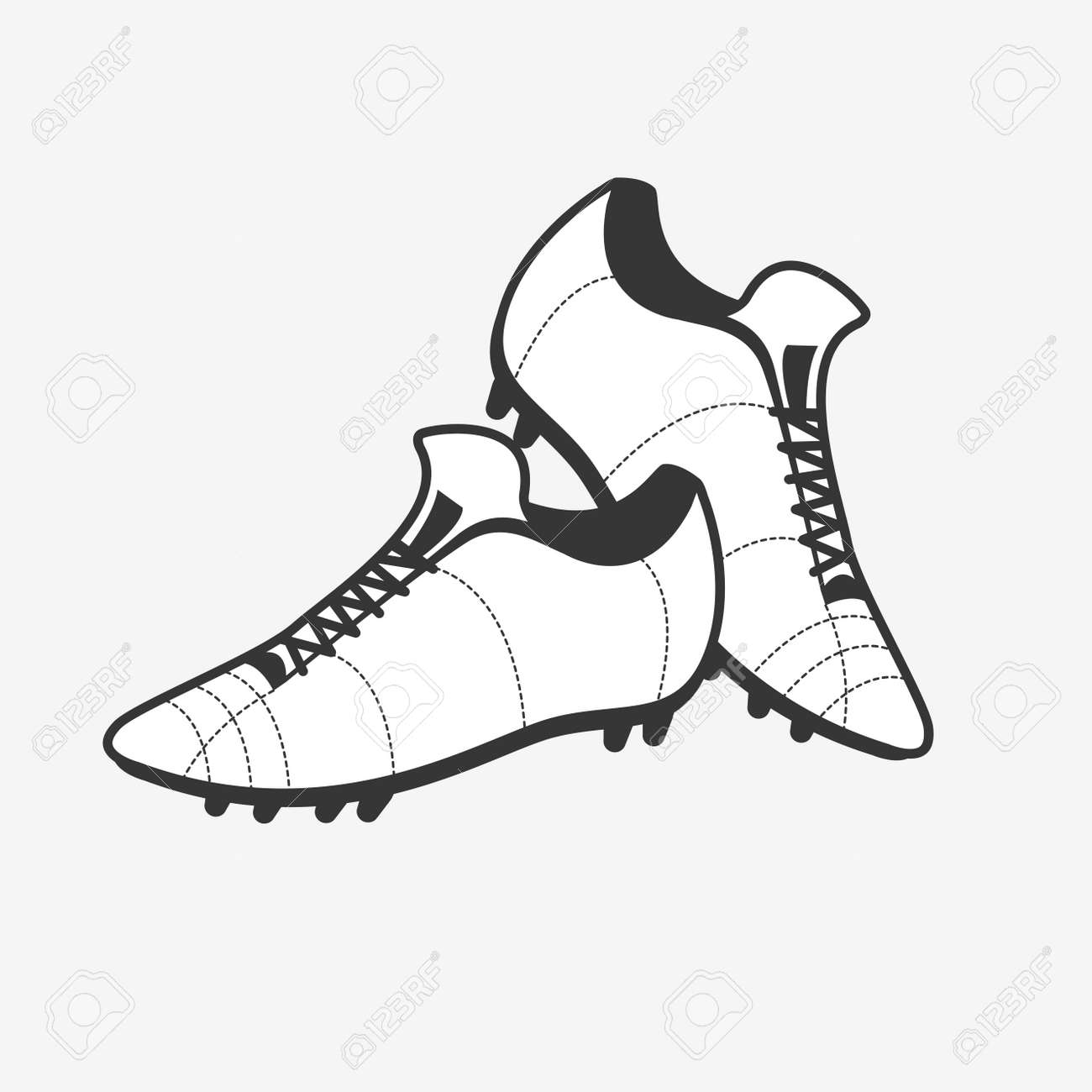 Soccer Shoes. Football Boots Icon