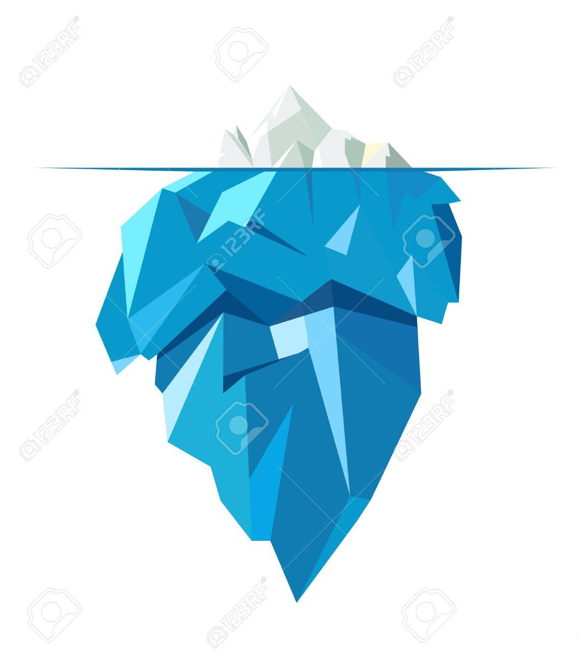 Isolated full big iceberg, flat style illustration. - 52562294