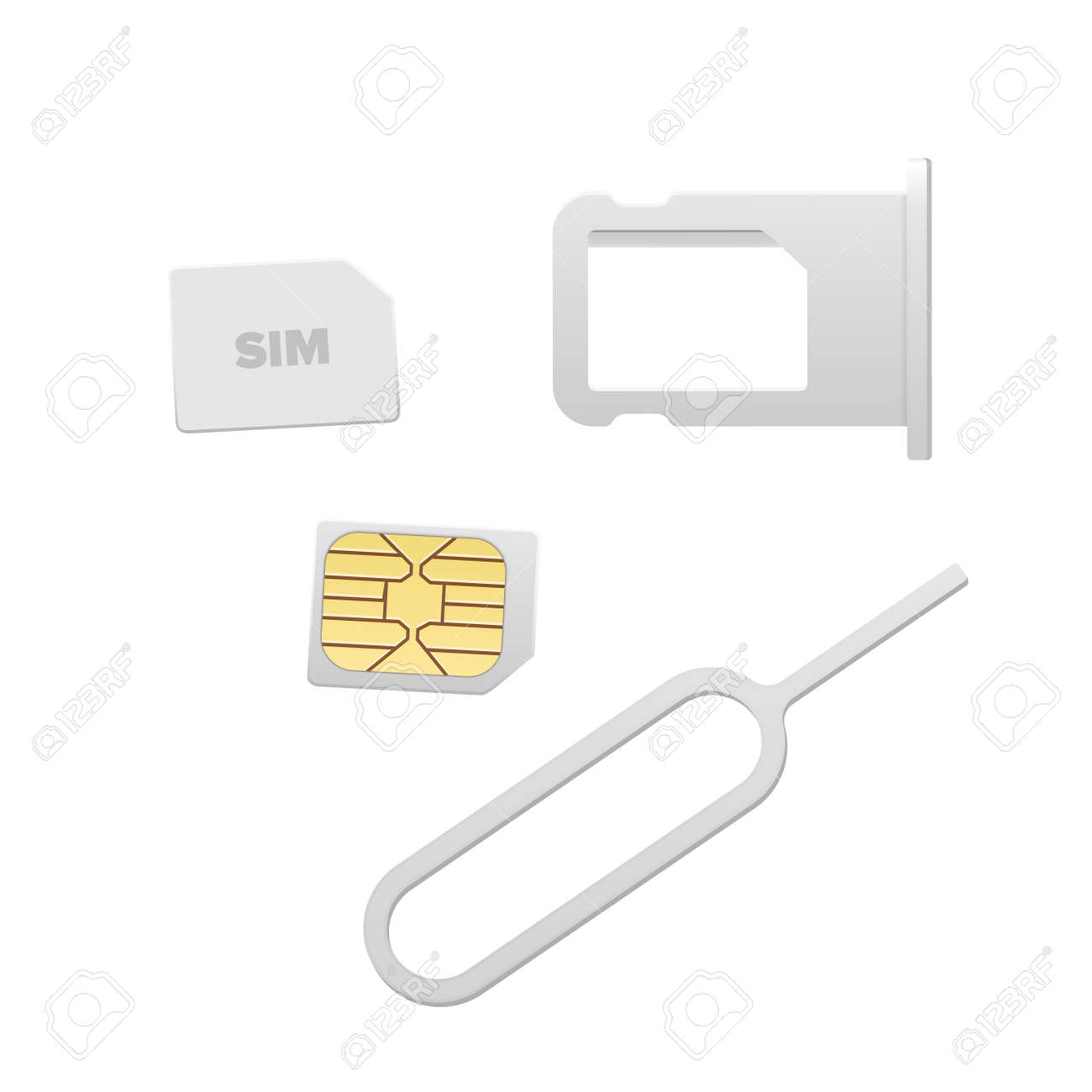 Nano Sim Karte.Stock Photo