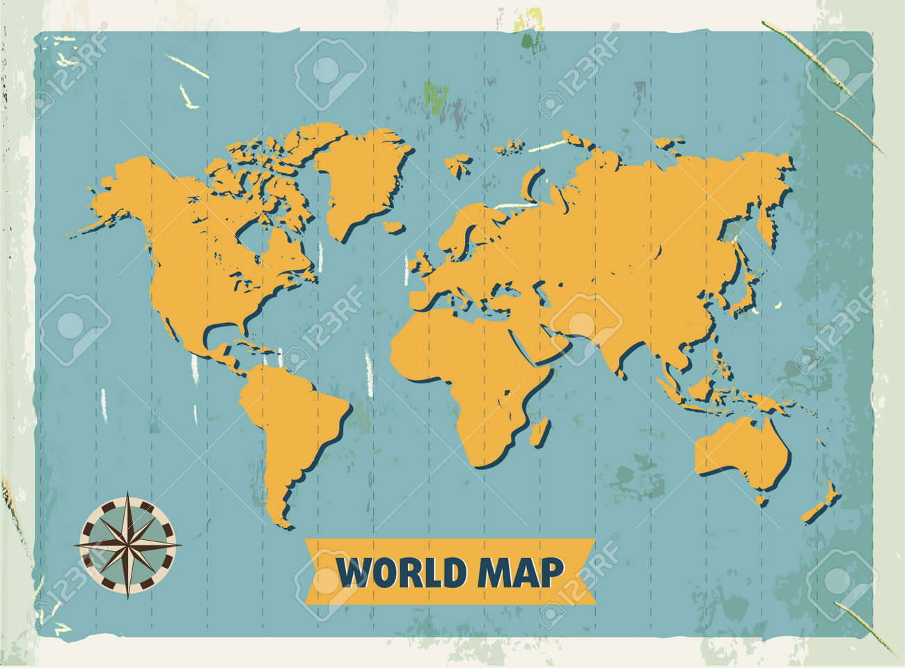 Grunge retro metal sign with world map vintage poster old grunge retro metal sign with world map vintage poster old fashioned design stock gumiabroncs Choice Image