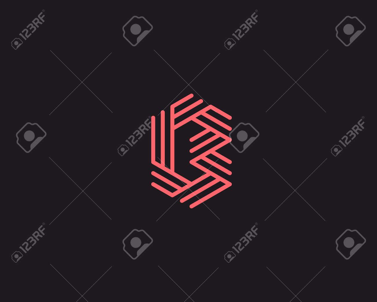 Letra B Resumen Plantilla Icono Del Diseño. Línea Signo Creativo ...