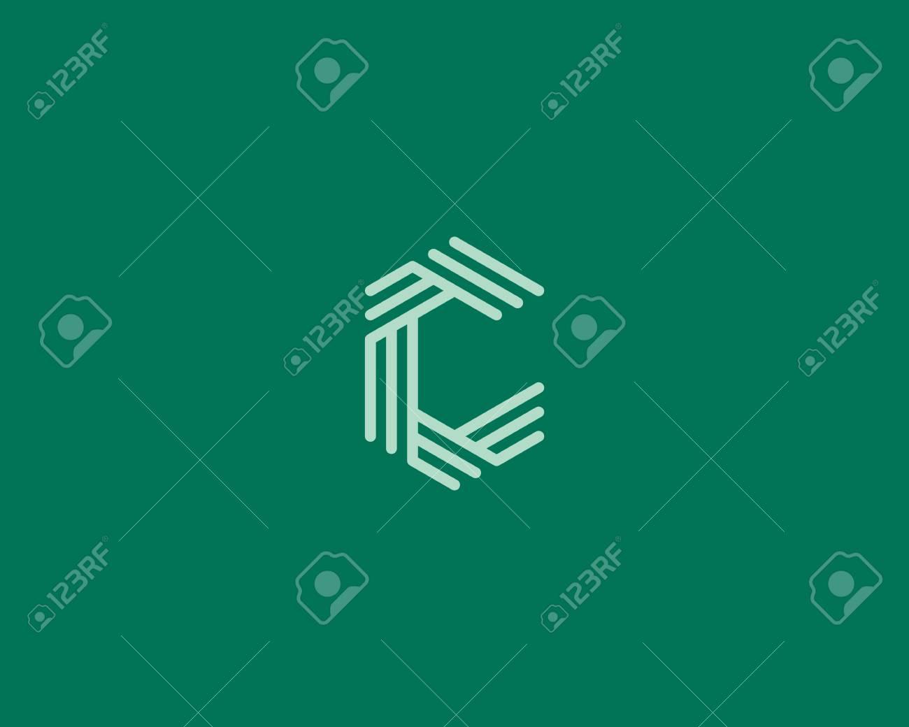 Letra C Resumen Plantilla Icono Del Diseño. Línea Signo Creativo ...
