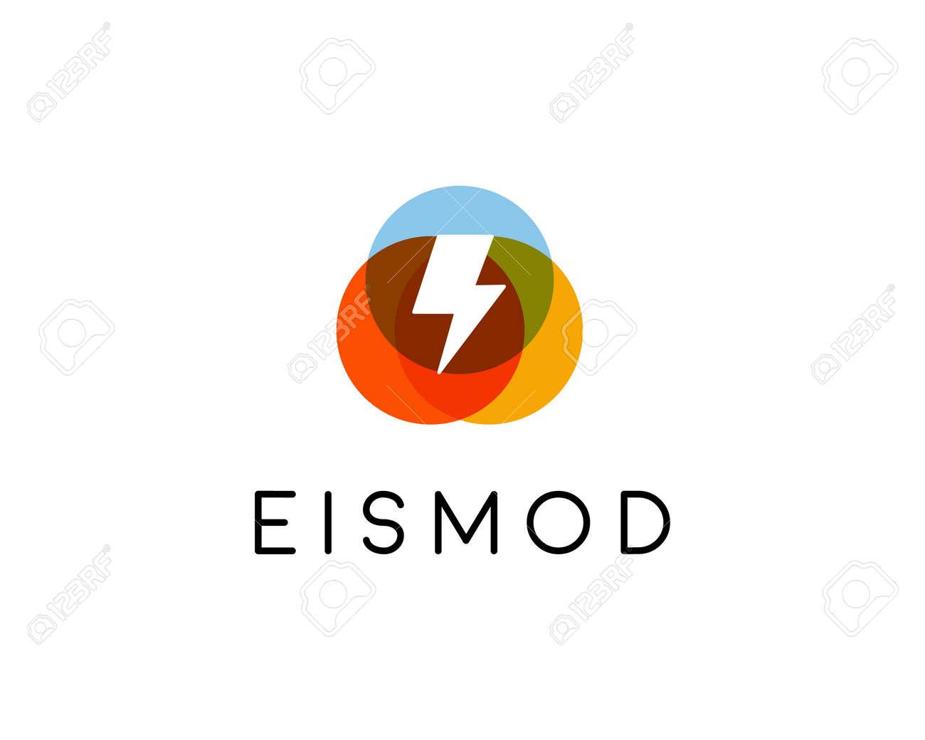 Abstract Letter Flash Logo Design. Energy Creative Symbol. Universal ...