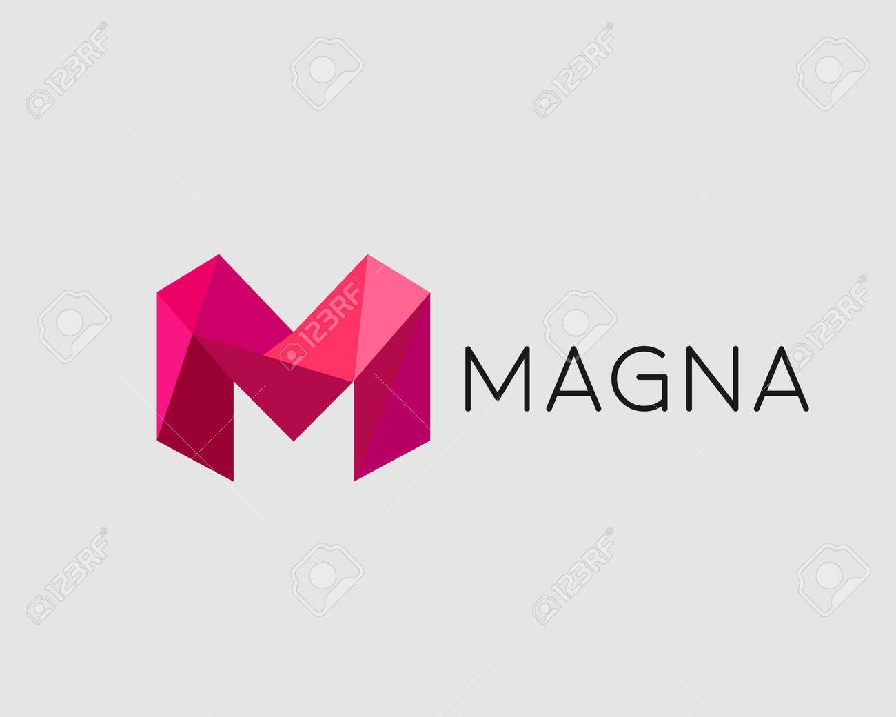 Abstract Trend Polygon Letter M Logo Design Template Art Tech