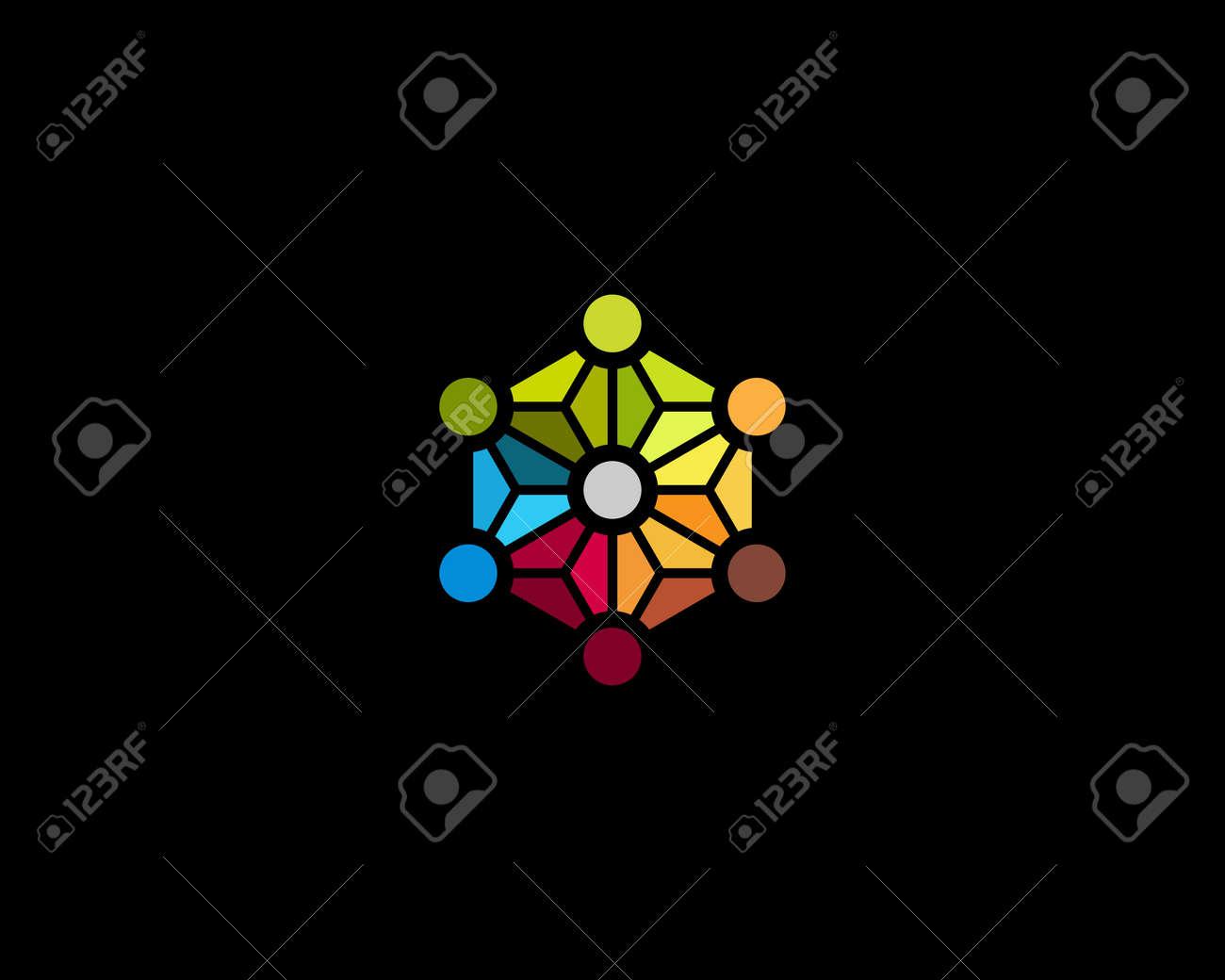 Red De Medios Plantilla De Diseño átomo Molécula De ADN Social ...