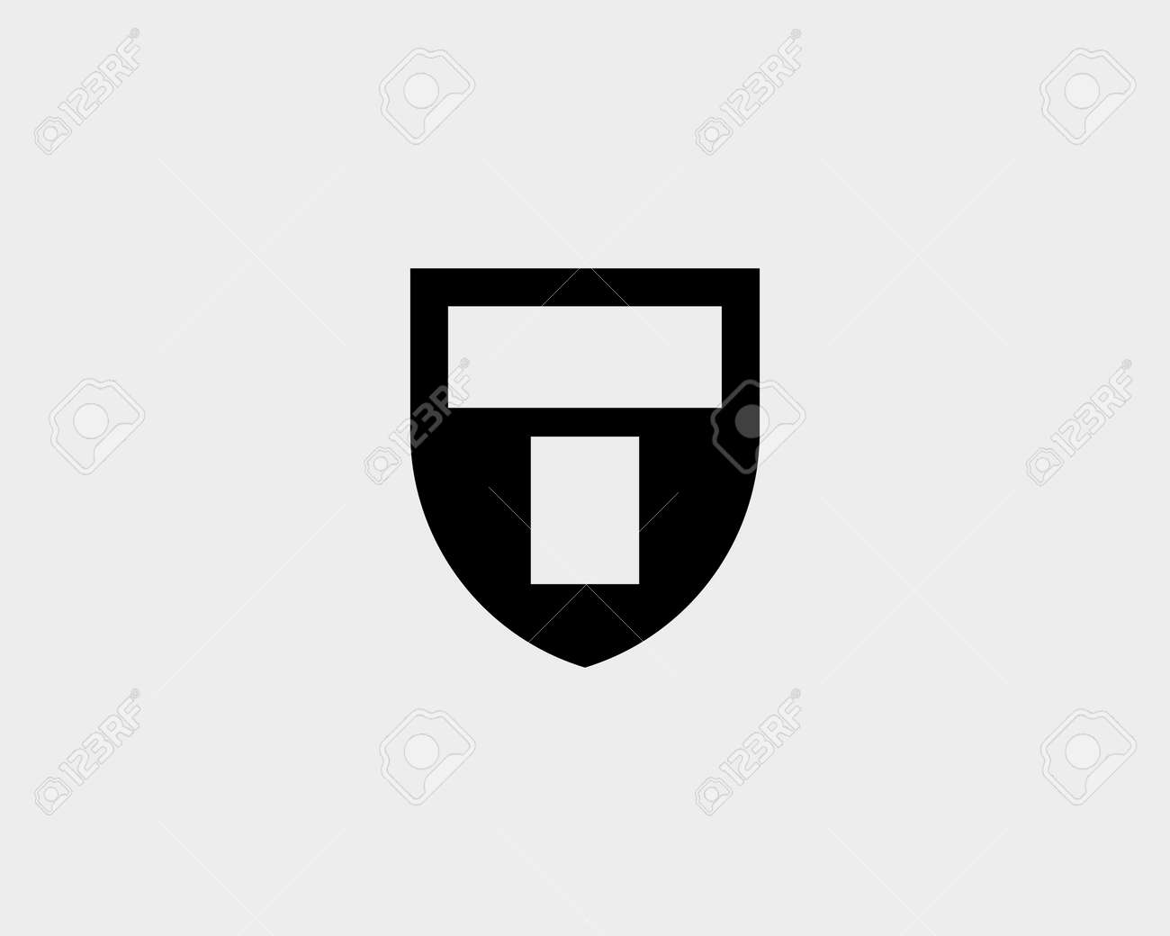 Abstract Letter T Shield Design Template Royalty Free Cliparts ...
