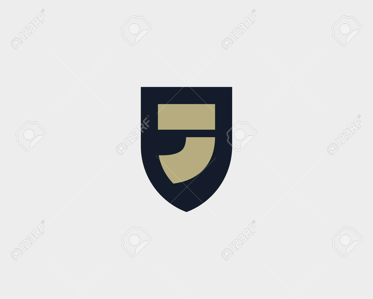 Abstract Letter J Shield Design Template Royalty Free Cliparts ...