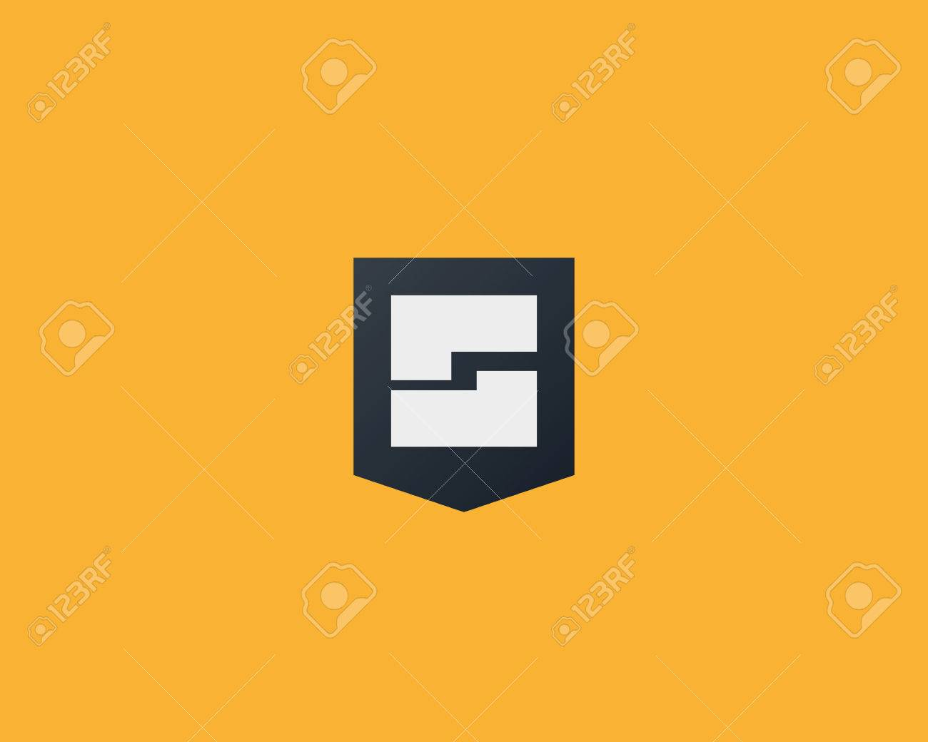 Abstract Letter G Shield Design Template Royalty Free Cliparts ...