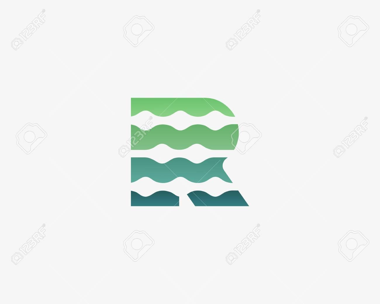 Resumen Letra R Logo Icono Vector Diseño. Universal Colorido ...