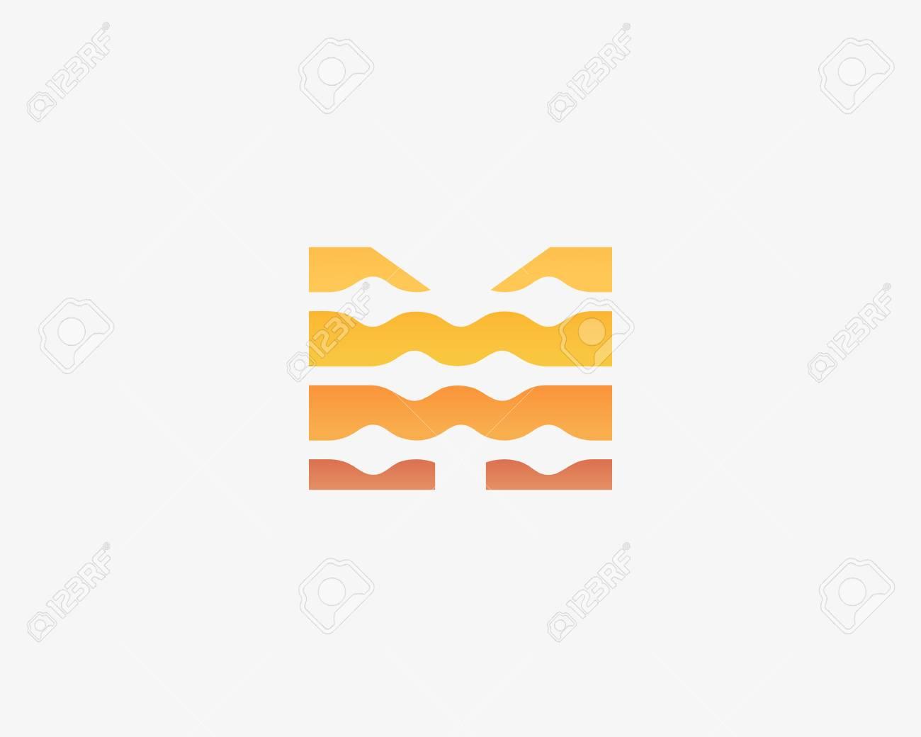 Resumen Letra M Logo Icono Vector Diseño. Universal Colorido ...