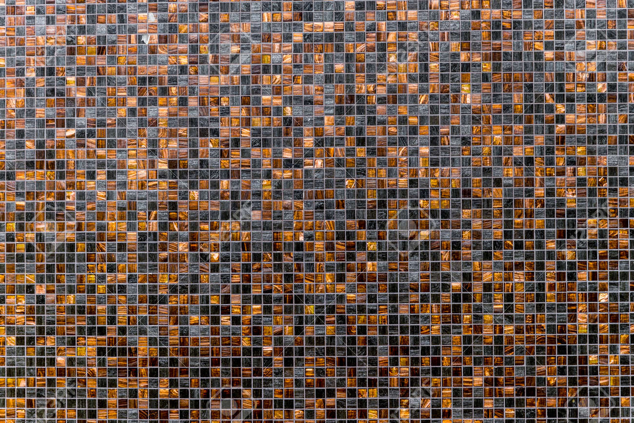 Brown And Black And Light Brown Grunge Mosaic Wall Tile Texture