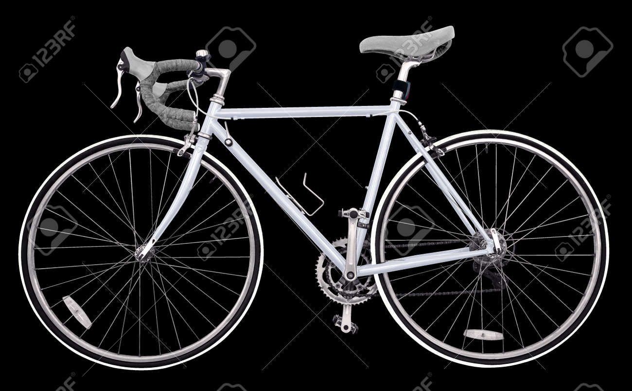 Vintage Race Road Bike / Light Grey Bicycle Classic Style, Modified ...