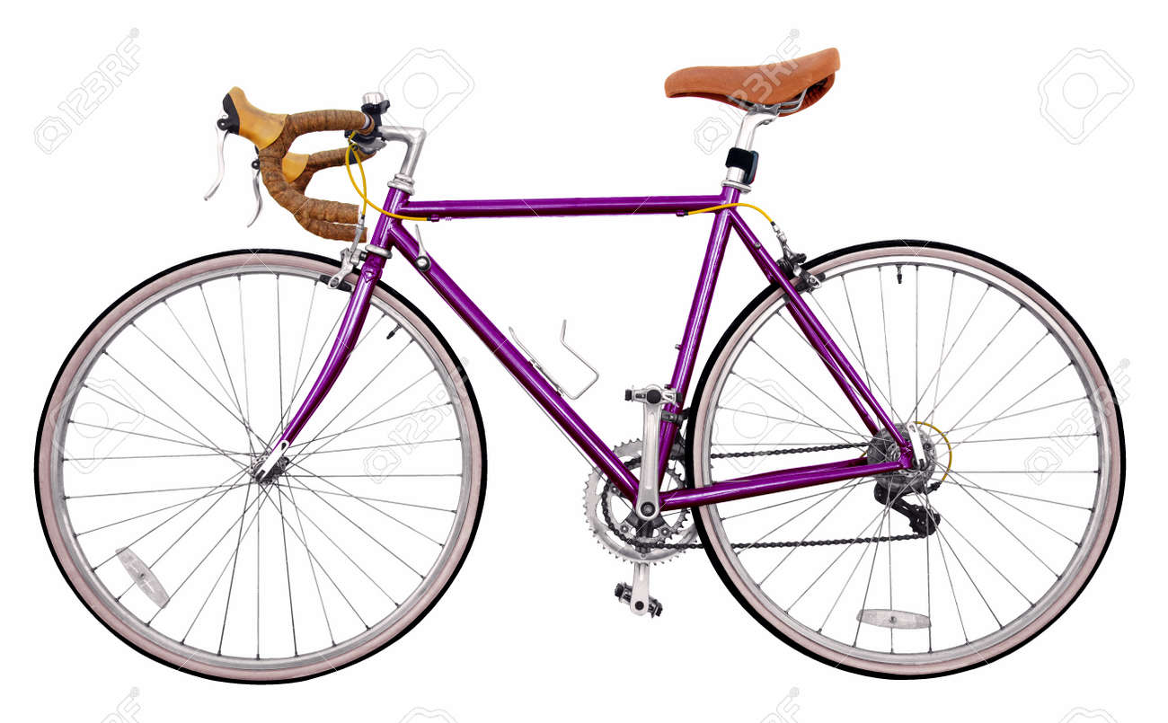 Vintage Race Road Bike /purple Bicycle Classic Style, Modified ...