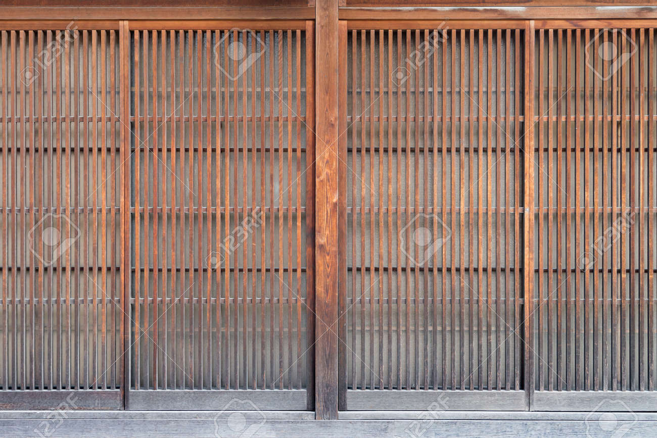 Stock Photo - Traditional Japan style wooden door with paper ((Shoji door) & Traditional Japan Style Wooden Door With Paper ((Shoji Door) Stock ...