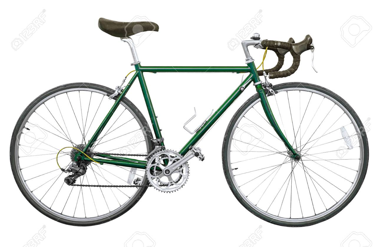 2cf84391cf7 Vintage Road Bike Isolated Stock Photo, Picture And Royalty Free ...