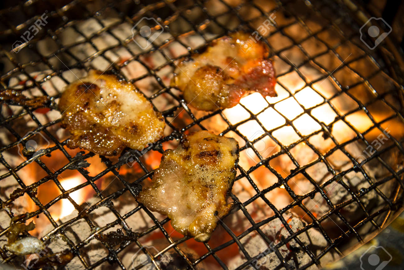 Meat Barbecue Charcoal Japanese Grill In Yakiniku Beef Grill Stock Photo Picture And Royalty Free Image Image 96575934