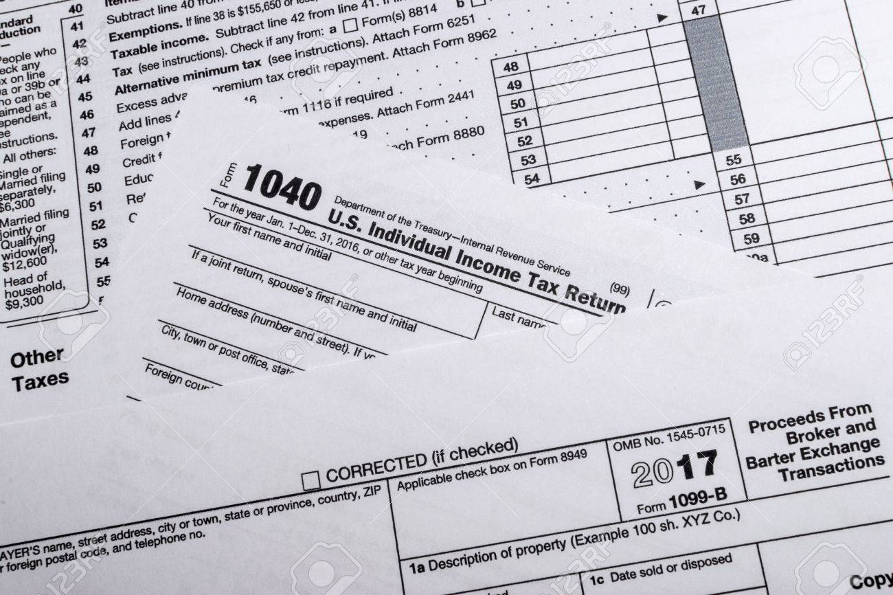 A shot of IRS Form 1099-B: Proceeds Frim Broker and Barter Exchange