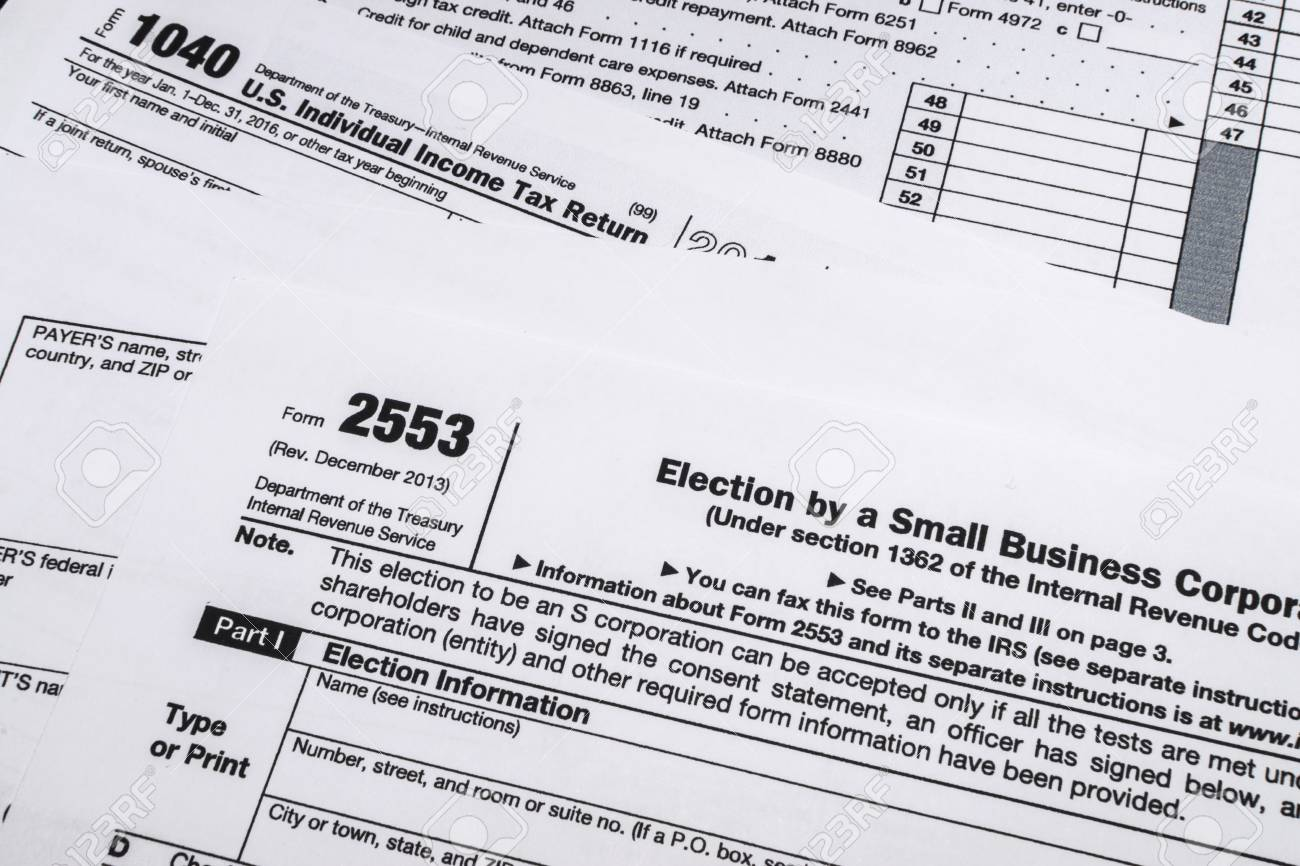 Form 2553 a shot of irs form 2553: electiona small business corporation..