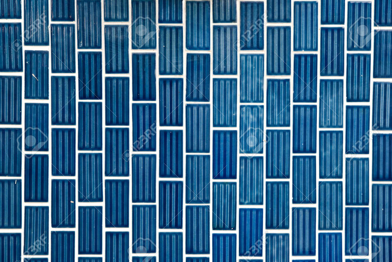 Tile texture background of bathroom or swimming pool tiles on wall. Stock Photo - 10767513