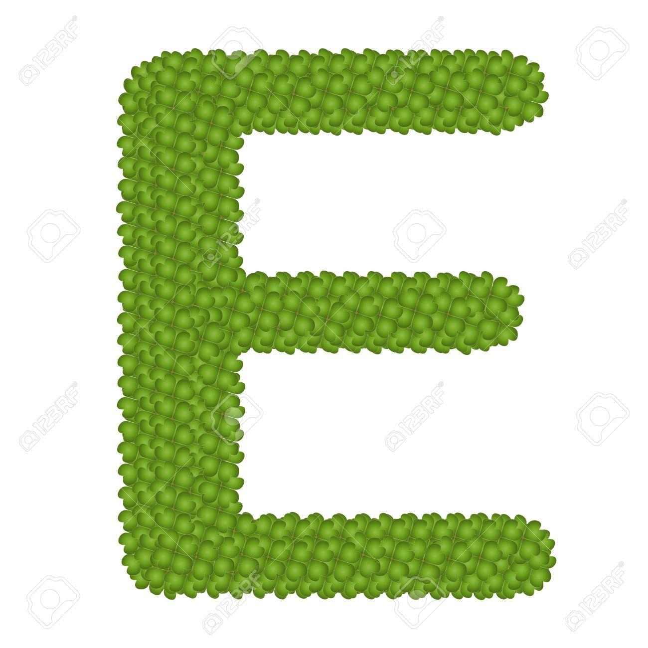 Letter e alphabet letters made of four leaf clover isolated stock letter e alphabet letters made of four leaf clover isolated on white background stock photo altavistaventures Images