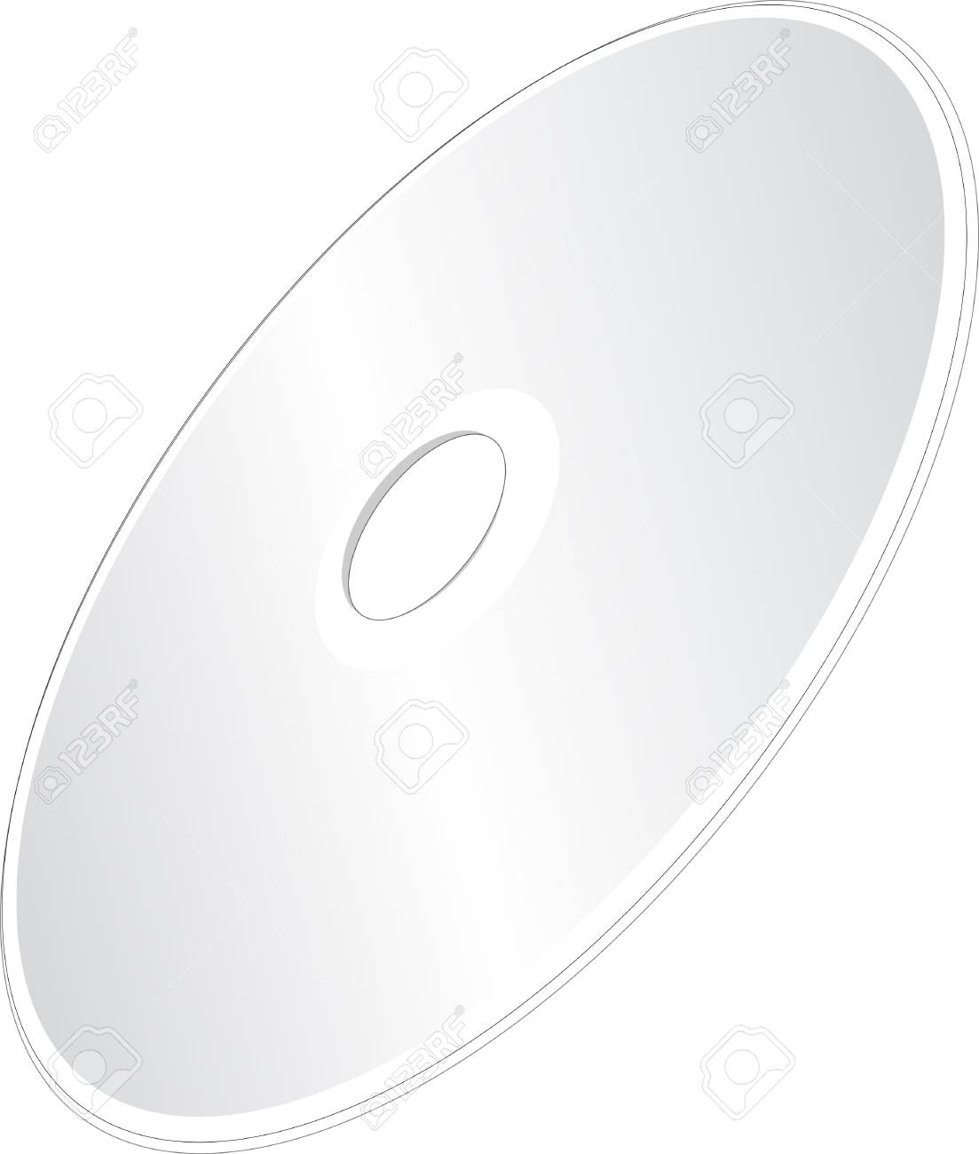 A Shiny Silver Blank CD or DVD Compact Disc on White Background Stock Photo - 17039916