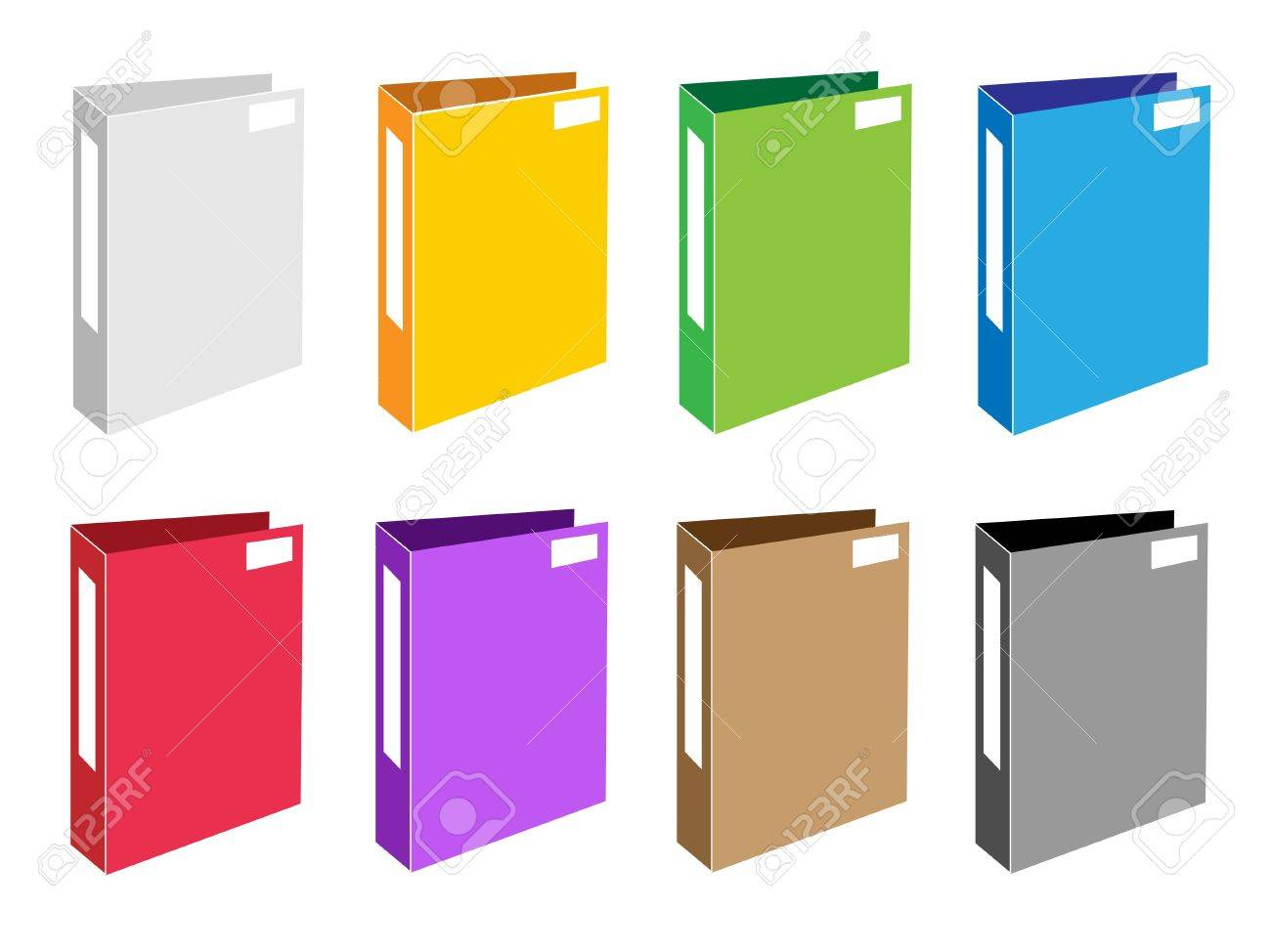 Illustration Collection of Colorsful File Folder Icons or Office Foloder Icons for Backups and Storing of Data Stock Vector - 17639421