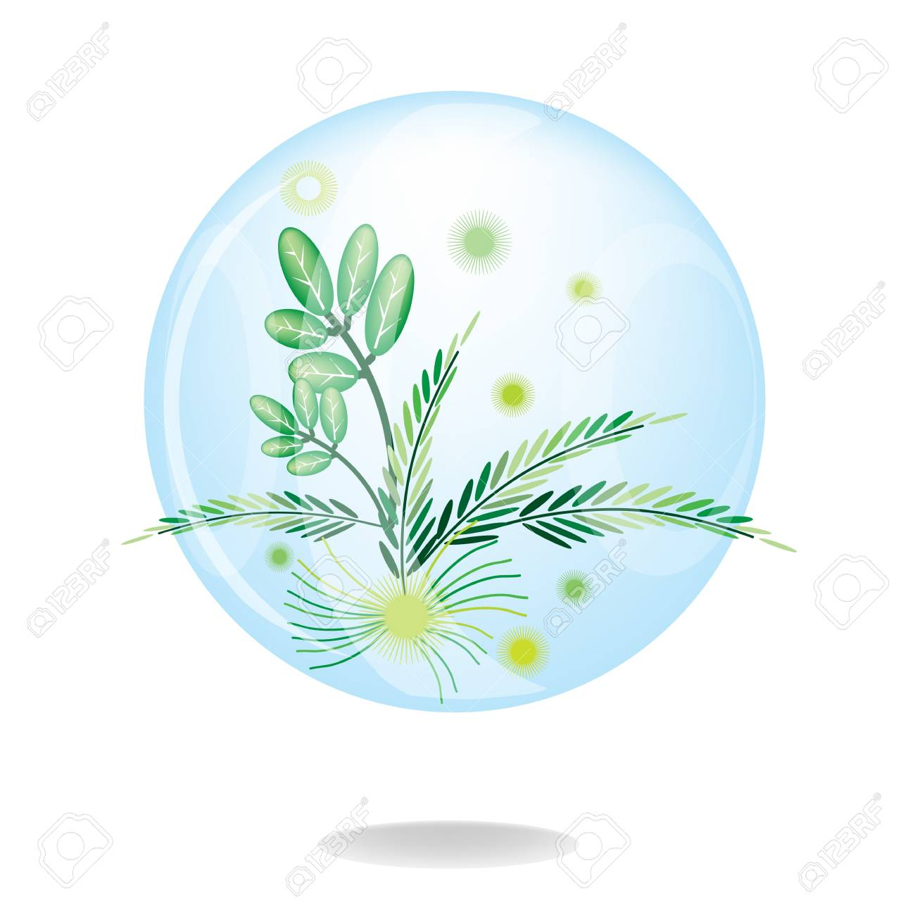Ecology Concept, An Illustration Collection of Fresh Green Leaf Button for Internet Glowing Eco Green Environmental Conservation Stock Vector - 17669544