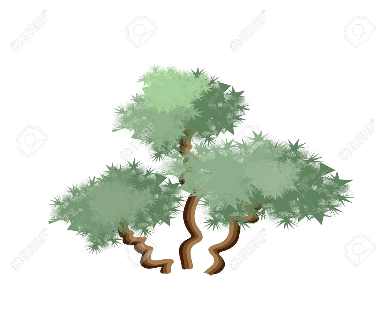 Ecological concept an illustration tree symbols or isometric ecological concept an illustration tree symbols or isometric green tree and plant of palm tree biocorpaavc Image collections