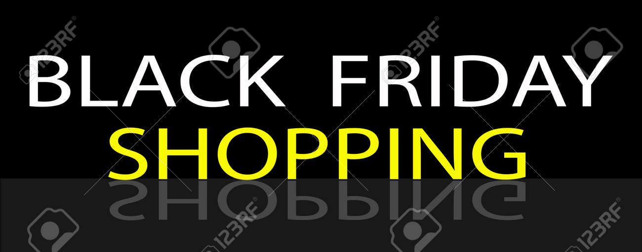 Black Friday Shoopng Banner for Start Christmas Shopping Season Stock Vector - 21145370